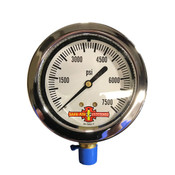 0-7500PSI 2.5 Face BTSTM Air Pressure Gauge