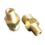 CGA 346 BRASS ADAPTER - 2216PSI - Male X Male