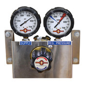 High Pressure Wall Mount Air Regulator with Gauges 6K