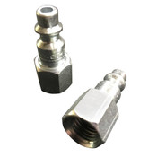 "QUICK DISCONNECT STEEL NIPPLE 1/4"" - Female Thread End"