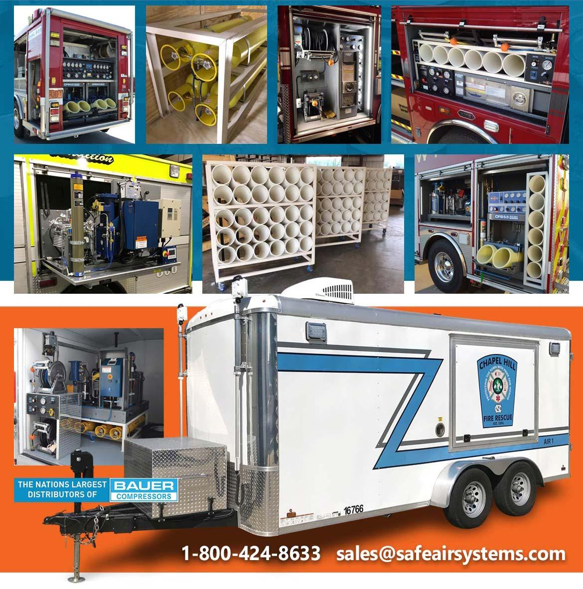 Safe Air Systems offers Air Control Panels, Minor and Major Fire Apparatus Up-Fits for your needs.